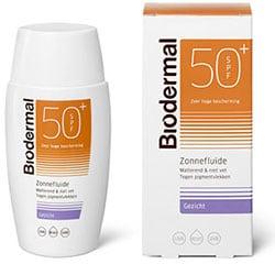Bescherming MHP tegen UV-straling zon met Biodermal Zonnefluïde Matterend